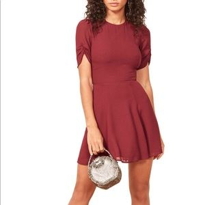 Reformation Gracie Dress in Garnet size 2